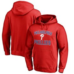 Philadelphia Phillies Victory Arch Big & Tall Pullover Hoodie - Red