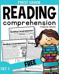 Inside you will find 4 free pages from my first grade reading comprehension packet. This resource is a more advanced version of my Kindergarten Reading Passages - geared for first grade / early second grade. First Grade Reading Comprehension, Grade 1 Reading, Comprehension Activities, Reading Fluency, Reading Intervention, Reading Passages, Kindergarten Reading, Reading Activities, Teaching Reading