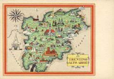 Trento Tourist Map Trento Italy mappery Italy Pinterest