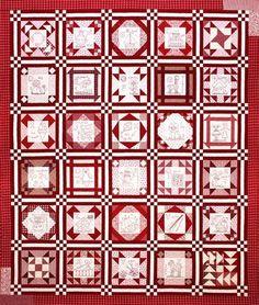 Redwork quilt #quilt