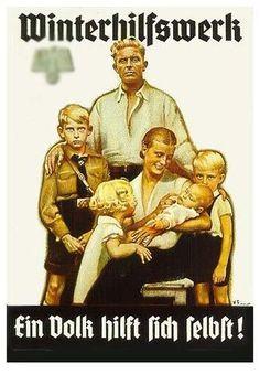 German propaganda poster.  Germans were encouraged to have lots of children.