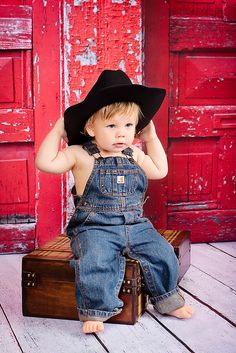 Start those boys young...who knows they might grow up to be wonderfully talented country music stars! You never know. This cutie looks like he is well on his way...to stardom. He's already made it to Pinterest for the world to see!!! LOL.