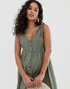 Find the best selection of ASOS DESIGN Maternity button through smock maxi dress. Shop today with free delivery and returns (Ts&Cs apply) with ASOS! Asos Maternity, Stylish Maternity, Maternity Fashion, Pregnancy Outfits, Cute Dresses, Fashion Online, Cool Outfits, Shirt Dress, Casual