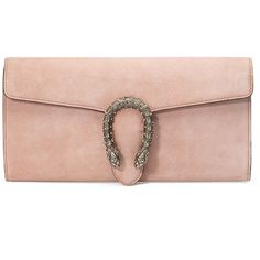Gucci Dionysus Suede Clutch Bag ($1,500) ❤ liked on Polyvore featuring bags, handbags, clutches, black, snap purse, suede handbags, snap closure purse, flap handbags and gucci clutches