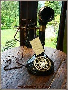 VINTAGE STYLE CANDLESTICK TELEPHONE, GREAT QUALITY & VERY NOSTALGIC   eBay