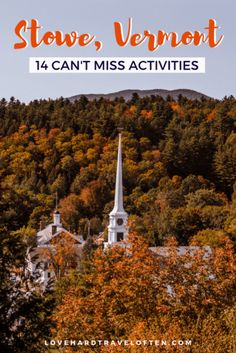 Best Maple Syrup, Best States To Visit, Best Apple Cider, New England Fall Foliage, Stowe Vermont, Fall Vacations, United States Travel, Future Travel, East Coasr