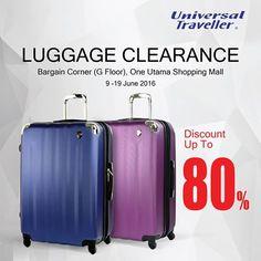 9-19 Jun 2016: Universal Traveller Luggage Clearance