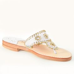 Ship Chic - Coastal Chic Resort Wear, Island Style, and Fun Gifts Gold Sandals, Palm Beach Sandals, Leather Sandals, Burlap Monogram, Classic White, Classic Leather, Resort Wear, How To Look Pretty, White Gold