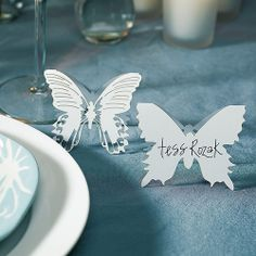 Laser Expressions Butterfly Folded Place Card - Weddingstar  $0.68 each