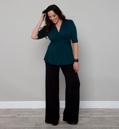 Be stylish and relaxed in our Peyton Palazzo Pants. These wide-leg pants are made of a soft knit jersey material that has a wonderful gaucho-like drape that falls away from the body as not to cling. A fully ruched waistband gives you a comfortable and flattering fit for all body shapes.