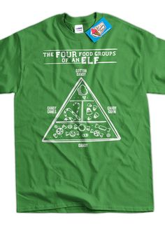 Funny Christmas Shirt Elf Food Group Elves Tshirt by IceCreamTees, $14.99