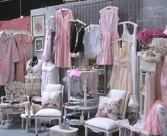 """""""Granny's Antique Mall"""" Temecula,CA.  Nancy of """"Touched by Time""""   pink wall space"""