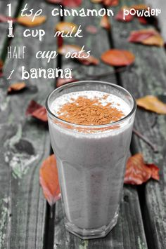 Oat Banana soya milk Smoothie with Cinnamon, delicious! Added two tea spoons of vegan chocolate spread and one table spoon of sugar 20.07.13