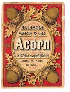 Flea market find - Pec Thing - Pecatonica IL - Acorn stoves trade card