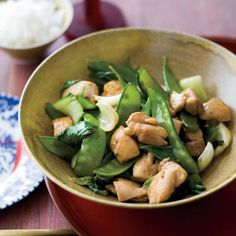 Stir-Fried Chicken with Bok Choy | Fermented black beans, the key ingredient in black bean sauce (along with garlic, sugar and salt), give this Asian stir-fry an enormous amount of flavor while keeping the overall ingredient list simple. Bottled black bean sauce is available in the Asian section of most supermarkets; Grace Parisi recommends the Kikkoman brand.