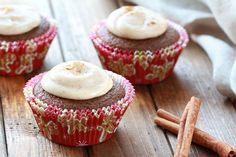 HG's Gooey Gingerbread Cupcakes Recipe | Hungry Girl