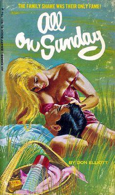 All on Sunday (Ember EL 331) 1966 AUTHOR: Don Elliott (pseudonym of Robert Silverberg) ARTIST: Robert Bonfils, via Flickr.
