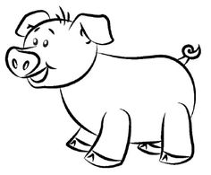 coloring pages for kids pigs drawings