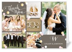 Thank You Dots 5x7 Folded Greeting Card | Thank You Cards | Shutterfly