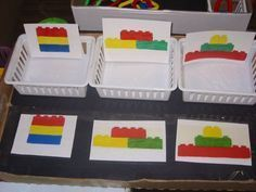 Lego assembly task for work bins / work task bins / work task baskets Life Skills Classroom, Autism Classroom, Classroom Setup, Autism Activities, Classroom Activities, Sorting Activities, Special Education Activities, Vocational Tasks, Activity Box