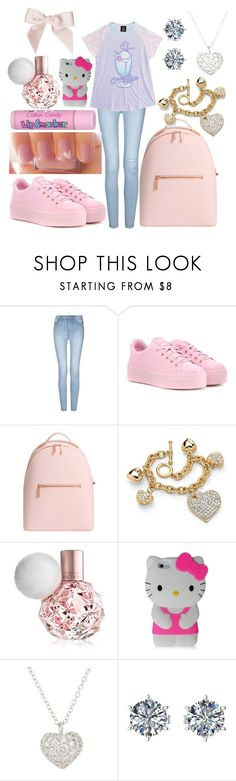 """Untitled #38"" by not-a-big-fan-of-reality ❤ liked on Polyvore featuring Kenzo, Ted Baker, Palm Beach Jewelry, Cotton Candy, ULTA, Hello Kitty and Finn"