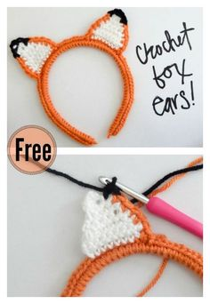 Crochet Amigurumi Patterns Crochet Fox Ear Headband Free Pattern - Fox crochet items can be very adorable. Here is a small collection of Crochet Fox Patterns that are quick to make and give to someone special in your life. Crochet Diy, Crochet Gifts, Crochet For Kids, Crochet Craft Fair, Crochet Ideas, Crochet Fox Pattern Free, Disney Crochet Patterns, Crochet Mignon, Confection Au Crochet