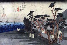 09 大磯(虎ヶ雨)|歌川広重|東海道五十三次