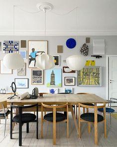Pale Blue Walls, Living Spaces, Living Room, Blue Tiles, Scandinavian Home, Dining Room Design, Inspired Homes, Danish Design, Interior Design Inspiration