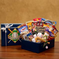 The Perfect Gift Basket - Take Em To The Ballpark Baseball Gift Pack, Baseball lover gift!