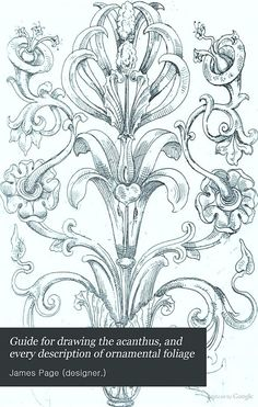 Guide for drawing the acanthus, and every description of ornamental foliage - James Page (designer.) - Google Books