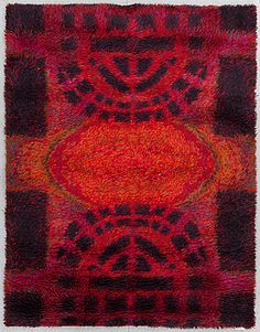 "Rya rug ""Ritva Puotila"", Finland, 1963 There are two of these on sale for 400 and 460 euros"