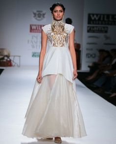 Pearl Gown with Zardozi Embroidery