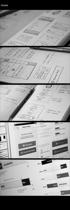 Wireframes of Biscuit : Dictionary App on Behance