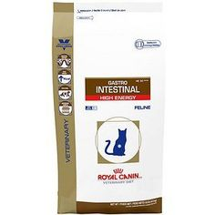 Royal Canin Veterinary Diet Gastrointestinal HE (High Energy) Dry Cat Food 8.8 Pound Bag Royal. Canin. Veterinary. Diet. Gastrointestinal Cats.