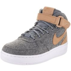 5b6fd6abd9fea4 Nike Women s Air Force 1 Mid Lthr Prm Oatmeal Oatmeal Oatmeal Black  Basketball Shoe 6 Women US