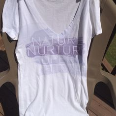 American Eagle Nature shirt American eagle t shirt in size medium. For nature lovers, shirt says nature nurture super future American Eagle Outfitters Tops