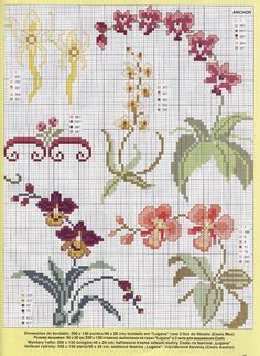 Borduurpatroon Bloemen - Planten *Cross Stitch Flowers - Plants  ~Orchidee~