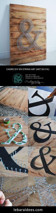 Découvrez la nouvelle tendance du String Art (Art du fil). Plus de détails sur le blogue.