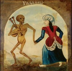Death leading a pagan Woman by British School Painted plaster on panel, x cm Collection: The Ashmolean Museum of Art and Archaeology British Artist, Art Museum, Medieval Art, Dance Of Death, School Painting, Art, Skeleton Art, Art Uk, Vanitas Vanitatum