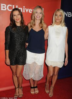 Summer chic: Ladies of London stars Juliet Angus, Marissa Hermer, Caroline Stanbury looked stylish in their ensembles