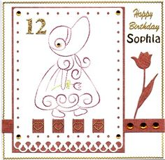 Birthday card for Sophia.