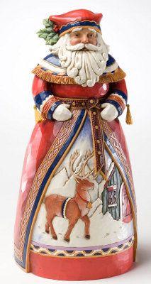Lapland Santa Reindeer Christmas Figurine Jim Shore | eBay
