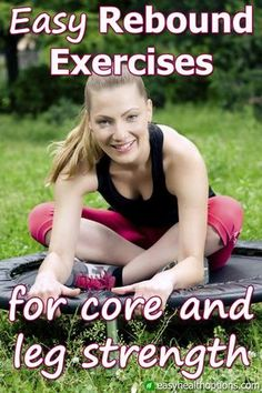 One great reason for working out on a mini-trampoline is that it's much easier on your feet and knees. These strengthening exercises are another. Mini Trampoline Workout, Best Trampoline, Jogging In Place, Health Options, Core Muscles, Best Weight Loss, Lose Weight, Workout Challenge, Physical Fitness