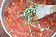 Tomatensaus voor pizza en pasta