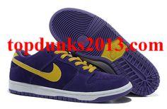 Best Price Purple Yellow White New Nike Dunk 2012 Men Low