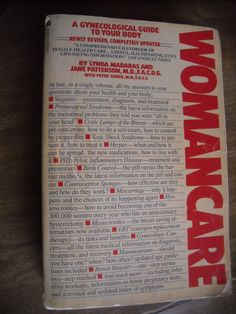 Womancare a Gynecological Guide to Your Body (1984) ~~ for sale at Wenzel Thrifty Nickel eCRATER store