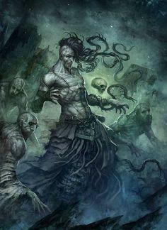 Random Fantasy/RPG artwork I find interesting,(*NOT MINE) from Tolkien to D&D. Dark Fantasy Art, Fantasy Artwork, Dark Art, Arte Horror, Horror Art, Illustrations, Illustration Art, The Ancient Magus, Fantasy Monster