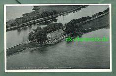 alte Pommern AK 17489 Wieck b. Greifswald 1940 Cafe Utkiek Orig. Fliegeraufnahme