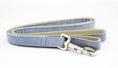 Dog Leash Blue Chambray