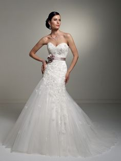 lace, different styled gown
